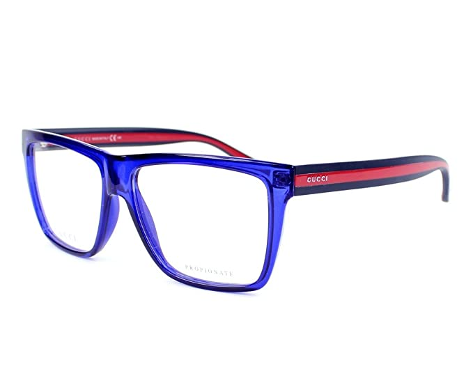 4ef02c16a1 Gucci frame GG 1008 CLS Acetate Blue - Red  Amazon.ca  Shoes   Handbags