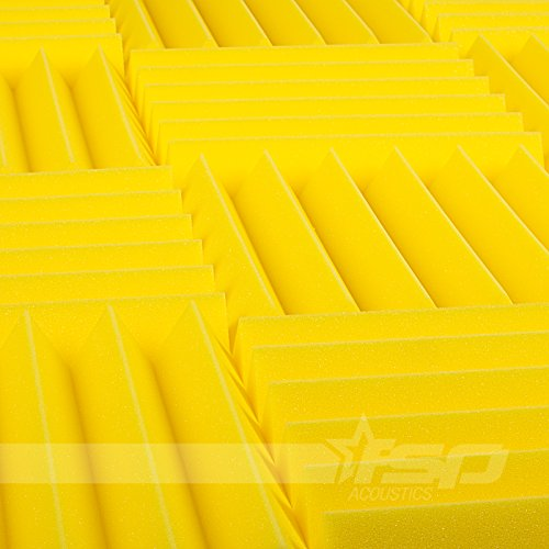 12x12x2-12-pack-yellow-acoustic-wedge-sound-proofing-treating-studio-foam-tiles
