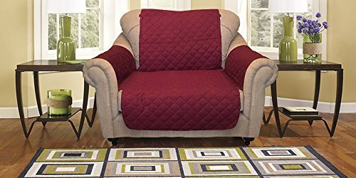 Reversible Furniture Protector Premium – Protects furniture from stains, spills, pets and children accidents (Chair, Burgundy/Taupe)