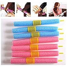 Pinovk 12x Mix Soft Sponge Foam Anion Bendy Hair Rollers Curlers Cling EPE Anion Style
