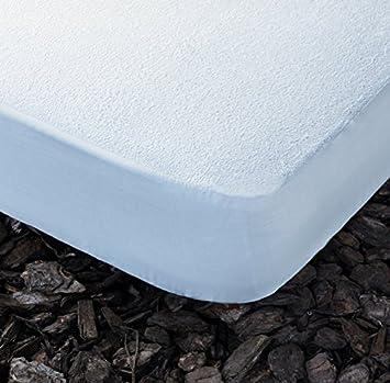 PROTECTOR DE COLCHÓN IMPERMEABLE con rizo. Lavable.. (Blanco 120x190 cm): Amazon.es: Hogar