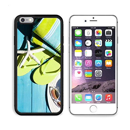 MSD Premium Apple iPhone 6 Plus iPhone 6S Plus Aluminum Backplate Bumper Snap Case Colorful flip flops by a swimming pool IMAGE 20488479 by MSD Customized - Customized Eyewear