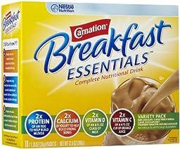 Carnation Instant Breakfast Powder, Variety Pack, 10 pk