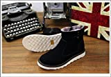 Warm winter snow boots boots with anti slip short pile height for shoes,44 black