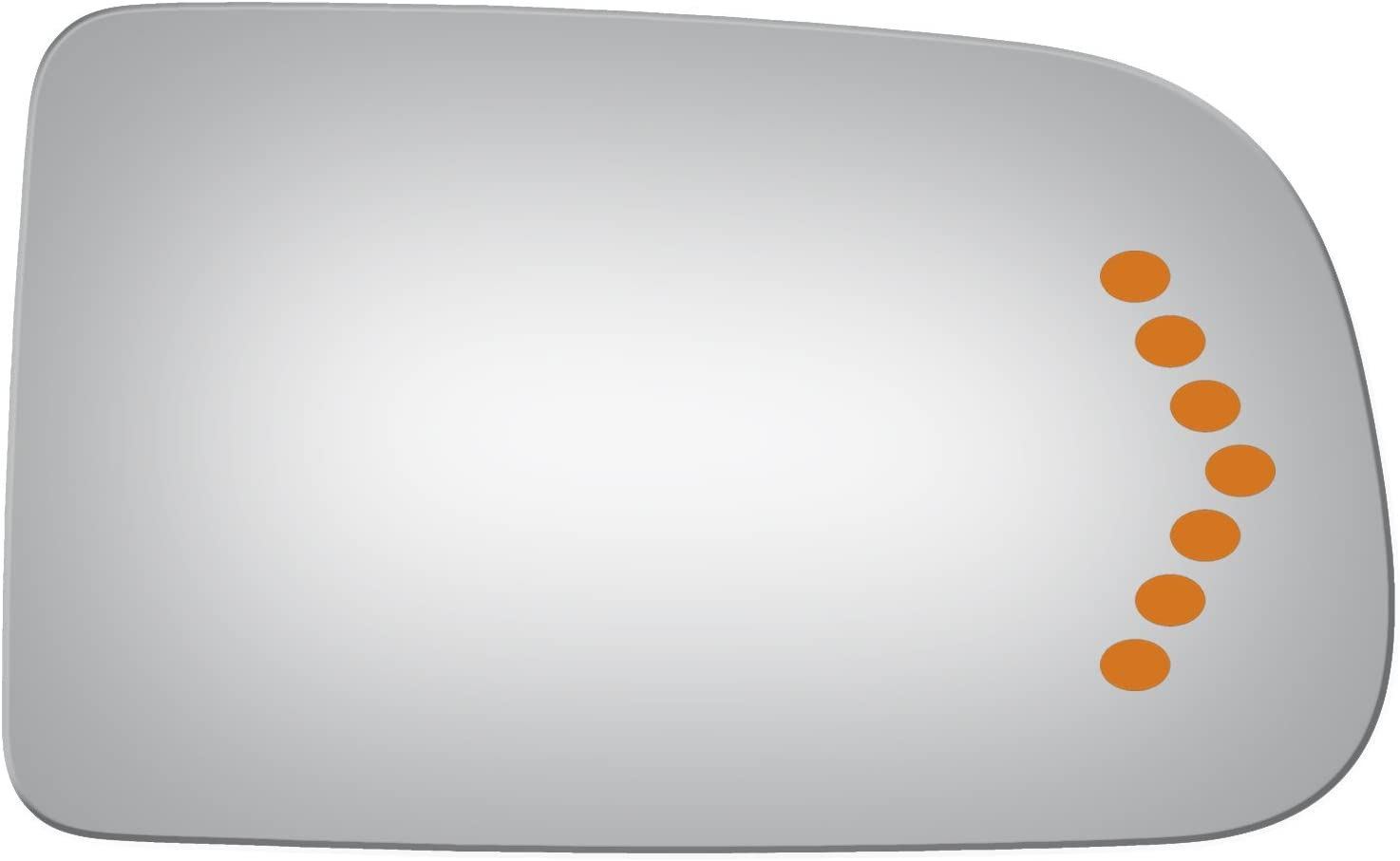 03-05 Chevy Avalanche 2500 2003-2005 Chevy Silverado 03-05 Chevy Avalanche 1500 03-04 GMC Sierra 2500 Burco 4001S Flat Driver Side Replacement Mirror Glass for 03-04 Chevy Silverado 2500