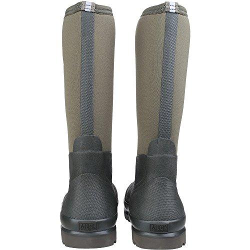 25 Marron Eu Chore moss moss De Mixte High Boots Muck Sécurité Bottes En Caoutchouc Adulte Noir BwnPOfq