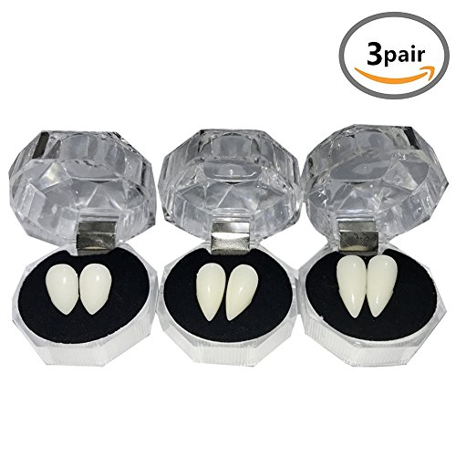 YOUOR 3 Pairs Vampire Teeth Fangs Dentures Halloween Cosplay Props Party...