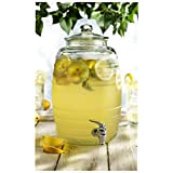 Circleware Sedona Glass Beverage Drink Dispenser, 2.5 gallon, Clear