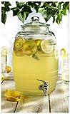 yellow drink dispenser - Circleware 67065/R Sedona Glass Beverage Drink Dispenser, Sedona, 2.5 gallon