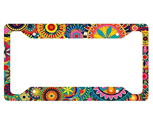 - Retro Flower License Plate Frame