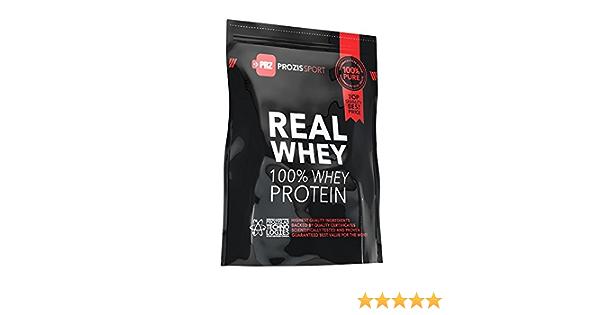 Prozis Sport 100% Real Whey Protein, Suplemento de Proteínas, Sabor a Fresa - 625 gramos