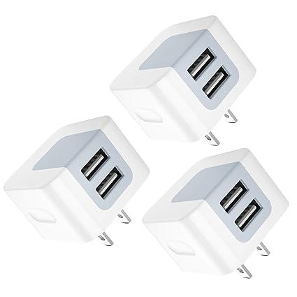 Amazon.com: Dodoli - Cargador USB (2 unidades, 2,4 A, doble ...