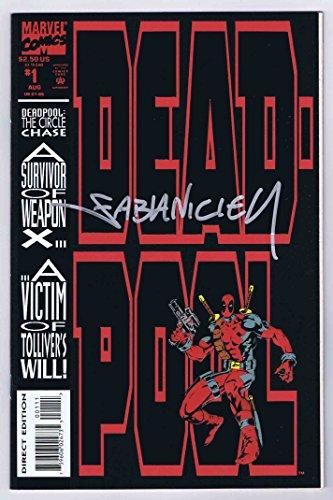 Deadpool The Circle Chase #1 NM Signed w/COA Fabian Nicieza 1993 Marvel Comics]()