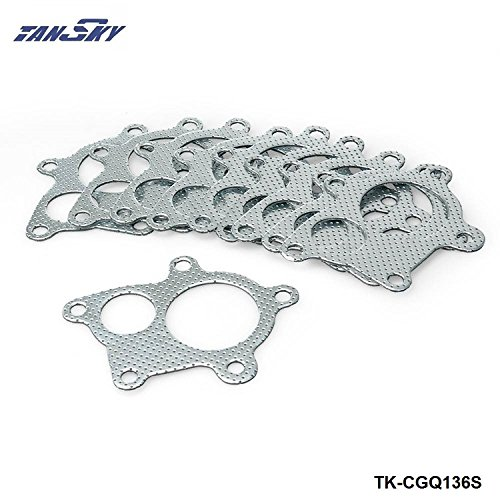 10PCS 5Bolt T3 T4 GT35 GT35R Turbo Gasket Fit Turbo Manifold Downpipe For Honda Civic H22, f22,b16,b18,d16 TK-CGQ136S