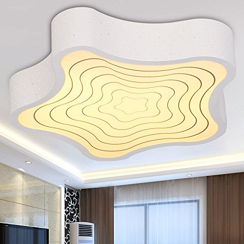 MEIHOME Deckenleuchten LED Kids Boy Kindergarten 54 CM 36 W weißes Licht Deckenlampe für Schlafzimmer Wohnzimmer Küche Badezimmer