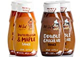 Wild Appetite, Dessert 4 Pack, 2 x Double Chocolate Sauce and 2 x Butterscotch & Maple Sauce, 4 x 315ml (10.6oz)