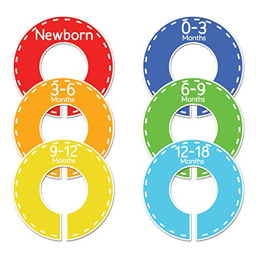 Closet Doodles C69 Baby Clothing Dividers Boy or Girl Set of 6 Fits 1.25inch Rod by Closet Doodles