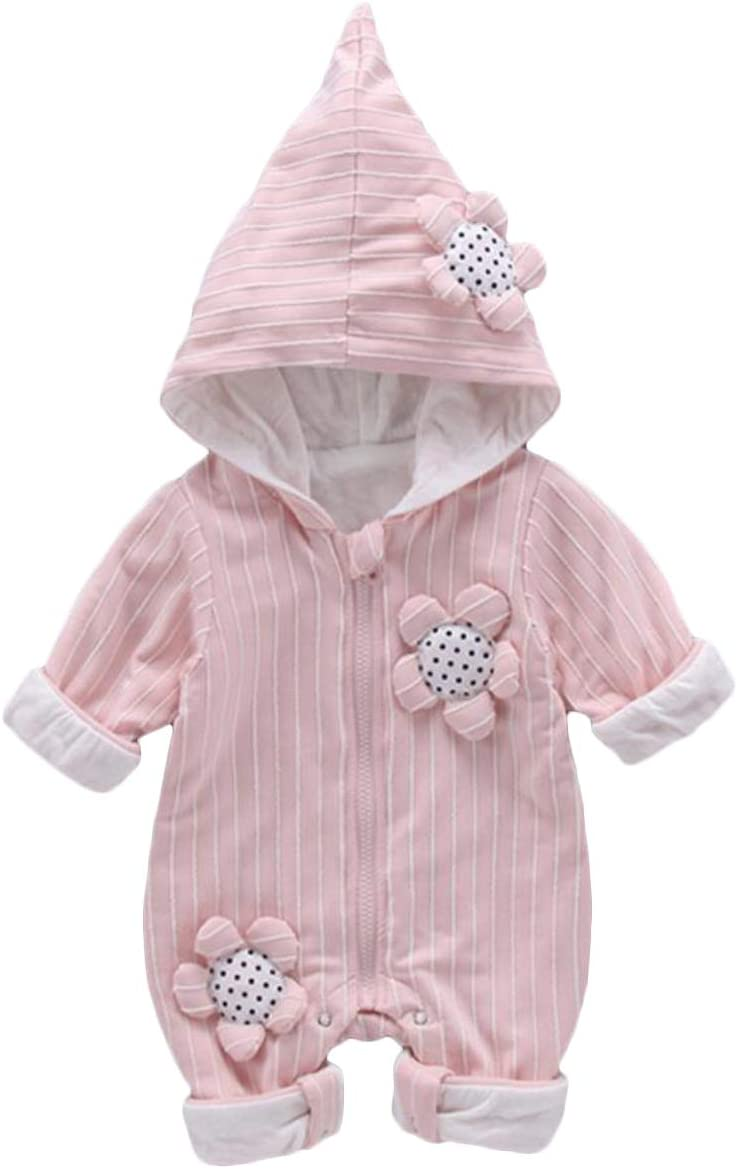 AMSKY Toddler Baby Girls Boys Hoodie Outfits Long Sleeve Rainbow Stripe Hooded Coat Tops Winter Clothes