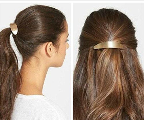 cuhair 2pc Gold Silver Polished Vintage Punk Metal Alloy Hair Clip Hair Barrette Hair Pin Hair Accessories For Women Girl