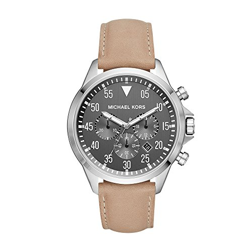 - Michael Kors Men's Gage Stainless Steel Quartz Leather Strap, Brown, 22 Casual Watch (Model: MK8616