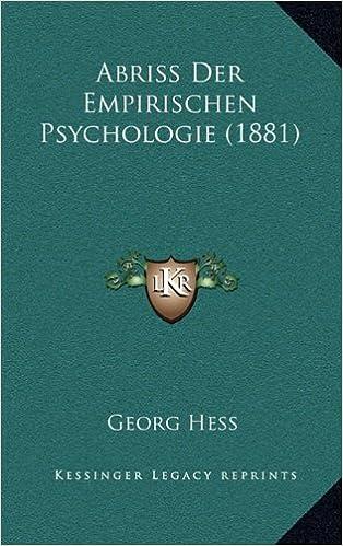Abriss Der Empirischen Psychologie (1881)