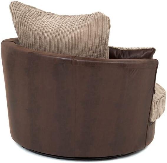 Abakus Direct Lush Footstool Brown