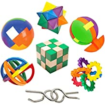 IQ Challenge Set by GamieUSA - 7 Pcs Kids Educational Toys for 5 Year Olds - Highly Stimulating Brain Teasers - Challenging Mental Exercises for Sharp Young Minds - 100% Child Safe