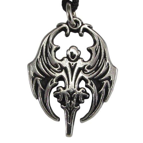 Pewter Vampyre Nosferatu Gothic Vampire Necklace (Pewter Over Pendants)