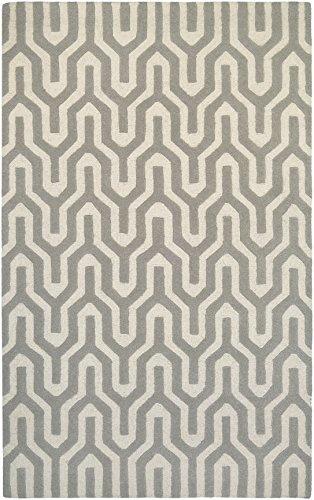 Couristan Indo Natural (Couristan Super Indo-Natural Collection Cambria Rug, 3 by 5-Feet, White/Grey)
