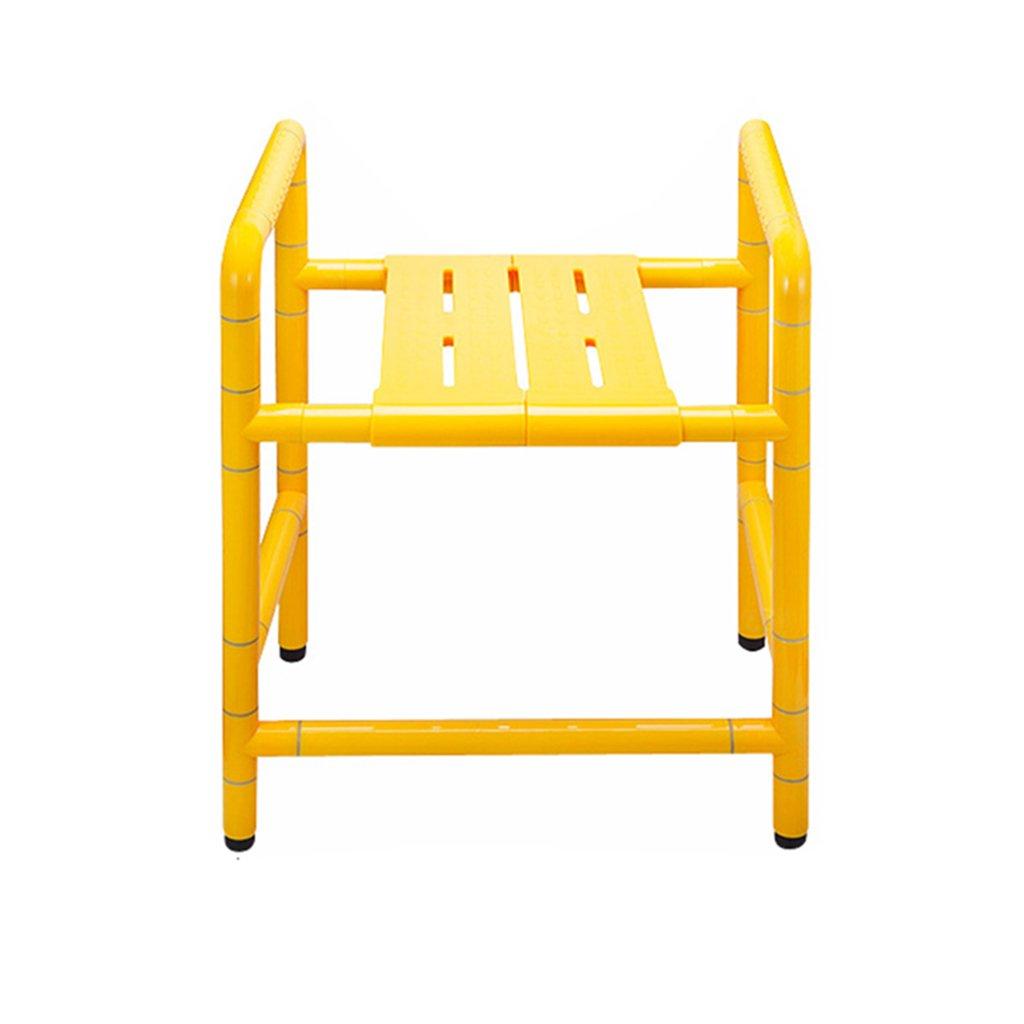 シャワー/バスタブスツール椅子シャワーシートスツール高齢者/障害者/妊婦用アンチスリップマットシャワーチェアヘビーデューティイエローマックス。 300kg(50cm)   B07F5CJD1D