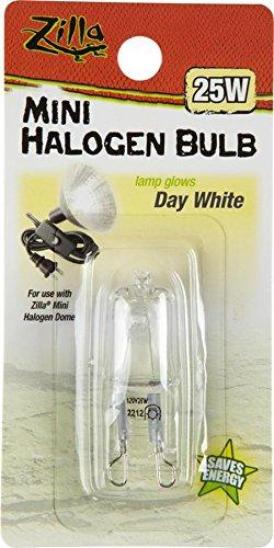 Zilla Reptile Terrarium Heat Lamps Mini Halogen Bulb, Day White, 50W (Lamp Heating compare prices)