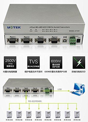 UTEK Optically Isolated 4-port USB to RS-485