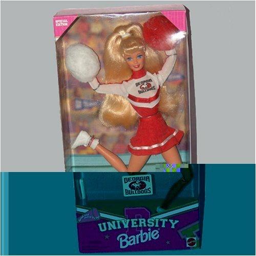 University Barbie Special Edition Cheerleader Georgia Bulldogs