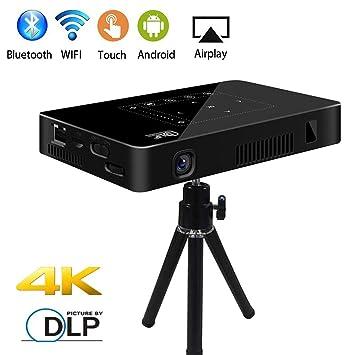 YTBLF DLP Mini proyector portátil, WiFi 1080p Full HD Video ...