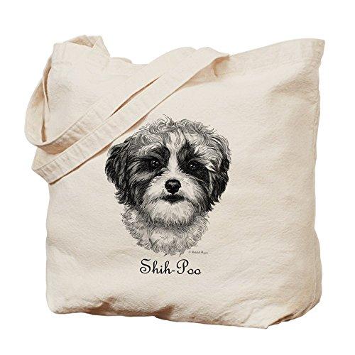 CafePress - Shih-Poo - Natural Canvas Tote Bag, Cloth Shopping - Rogers Shopping