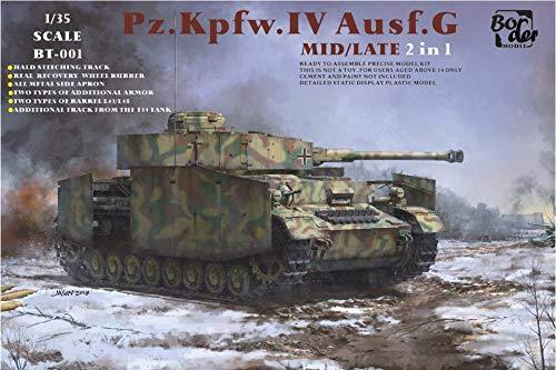 Border Model BT001 1/35 German Army No.4 G-Type Tank, Medium/Late Plastic Model