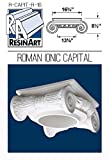 Roman Ionic Capital for Hollow Column - XXL Size - Composite Resin - Unfinished - Paint Ready - Load Bearing - Dimensions In Images/Details
