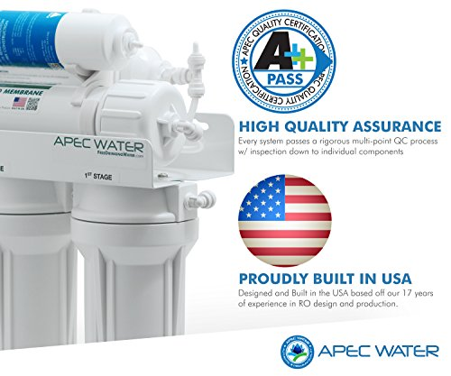 APEC Top Level Alkaline Mineral pH+ 75 GPD 6-Stage Ultra Safe Reverse Osmosis Drinking Water Filter System (ESSENCE ROES-PH75)