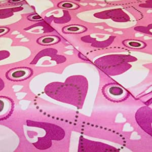 Hearts Pink Purple Bedding Twin-Single Bed Sheet Set