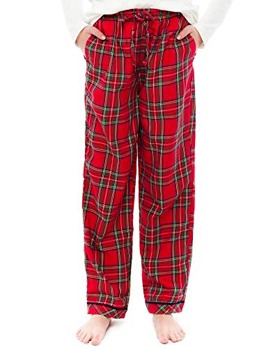 TINFL Girls Plaid Check Soft 100% Cotton Lounge Pants GP-21A-Red-YL