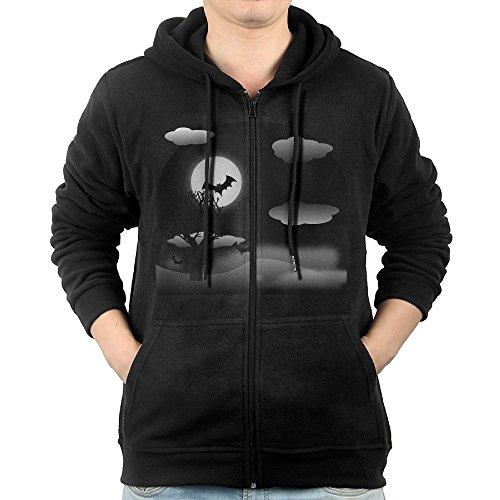 SFG Men's Halloween Night Pumpkin Mountain Climbing Fashion Hoodie Sweatshirt Casual Style S (Batman Pumpkin Carving)