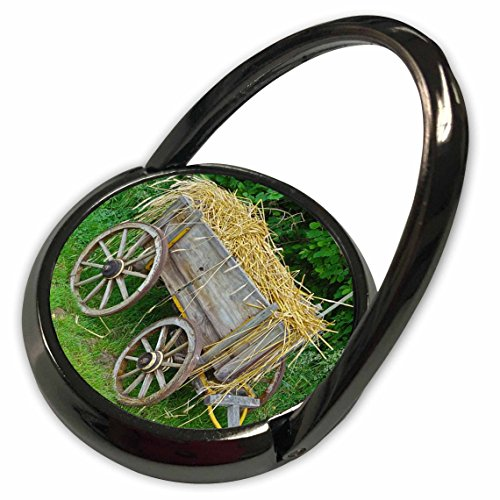 Country Old Print - 3dRose Florene - Country Living - Print of Old Country Hay Wagon - Phone Ring (phr_210554_1)