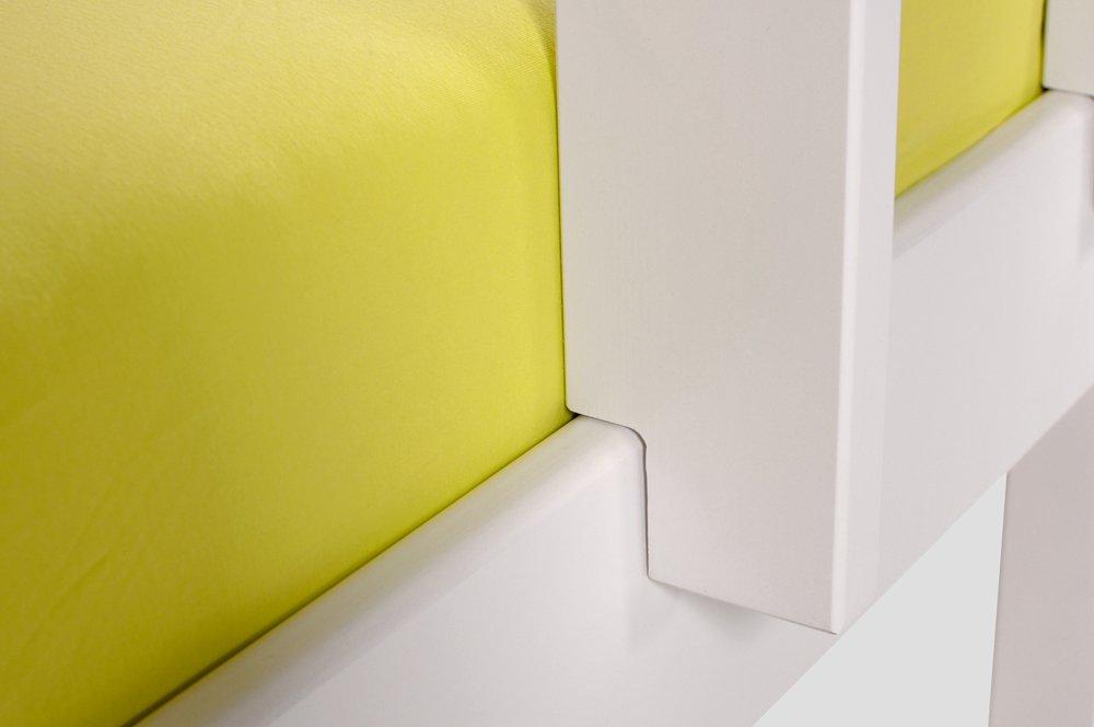 Yogi Etagenbett : Moebel eins yogi etagenbett mit leiter 90x200 kiefer weiß schräge