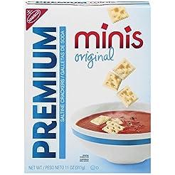 Premium Minis Saltine Crackers, Original...