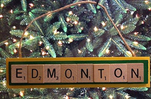 Edmonton Eskimos CFL Scrabble Tiles Ornament Handmade Holiday Christmas (Eskimo Ornament)