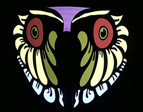 Comma Goods LED Mask: Voice & Sound-Activated, Breathable, Lightweight – Perfect For Halloween, Parties, raves, Music Festivals, Riding & Snowboarding (Owl)