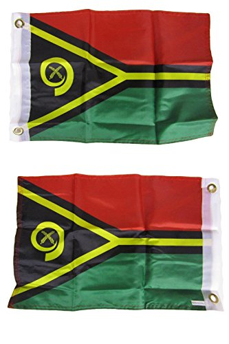 ALBATROS 12 in x 18 in Vanuatu Country 2ply Double Sided Flag for Home and Parades, Official Party, All Weather Indoors Outdoors