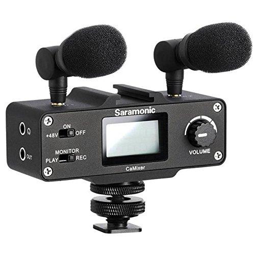 Microfone Interface De Áudio Estéreo Saramonic Camixer Para Câmeras