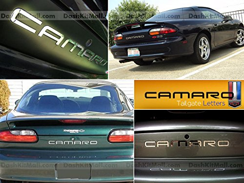Chevrolet Camaro 1992-2002 Front & Back Bumpers Letters Inserts (Chrome) (Camaro Letter Inserts compare prices)