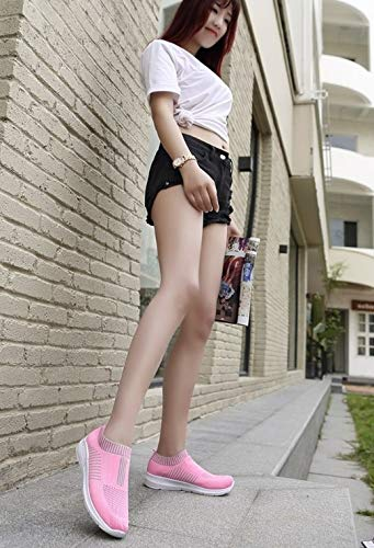 YSFU Turnschuhe Turnschuhe Sportschuhe Vulkanisierte Schuhe Damen Damen Damen Weiße Freizeitschuhe Atmungsaktive Laufgitter Flachen Boden Streifen Damen Laufen Leichte Outdoor 4a5335
